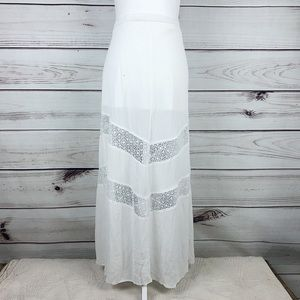 LA HEARTS White Lace Maxi Skirt Size Medium